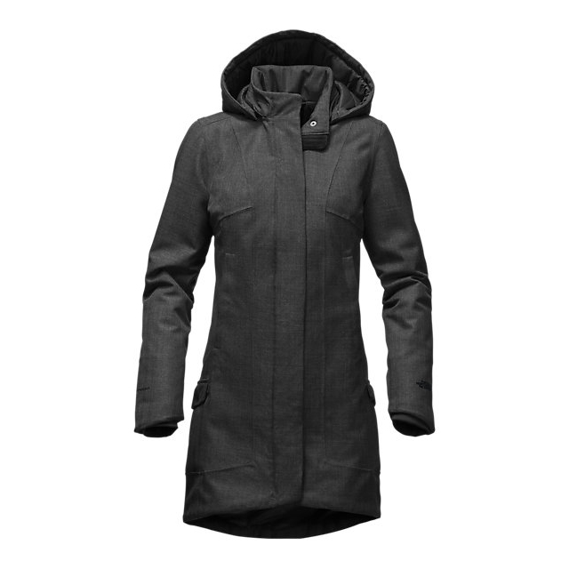 CHEAP NORTH FACE WOMEN'S TEMESCAL TRENCH DARK GREY HEATHER HERRINGBONE ONLINE