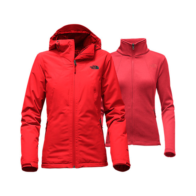 CHEAP NORTH FACE WOMEN'S HIGHANDDRY TRICLIMATE JACKET HIGH RISK RED ONLINE