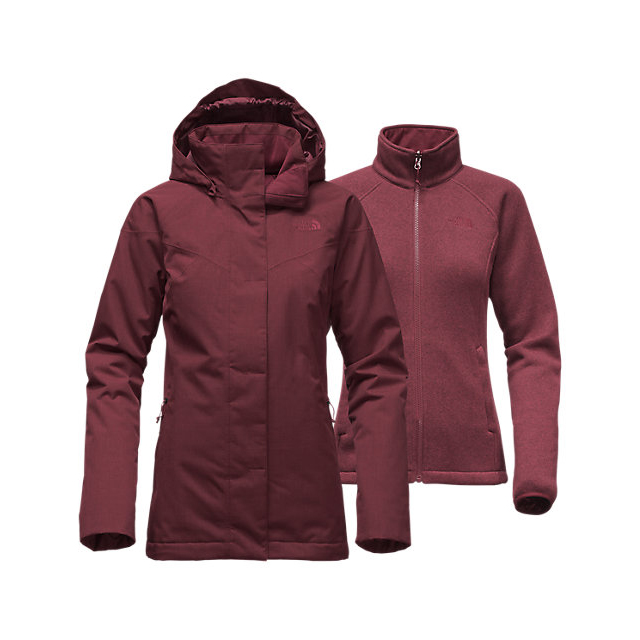 CHEAP NORTH FACE WOMEN'S KALISPELL TRICLIMATE JACKET DEEP GARNET RED HEATHER ONLINE