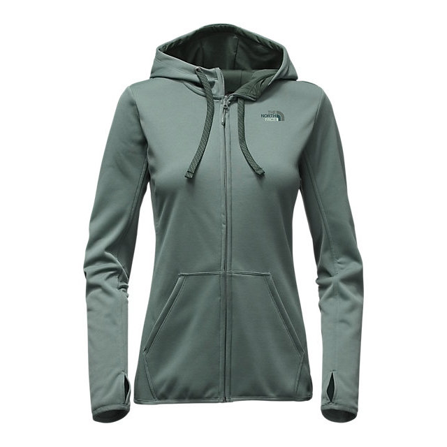 CHEAP NORTH FACE WOMEN'S FAVE LFC FULL ZIP HOODIE BALSAM GREEN/DARKEST SPRUCE MULTI ONLINE
