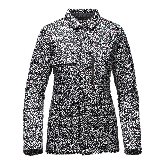 CHEAP NORTH FACE WOMEN\'S WHOISTHIS JACKET BLACK WHITEOUT PRINT ONLINE
