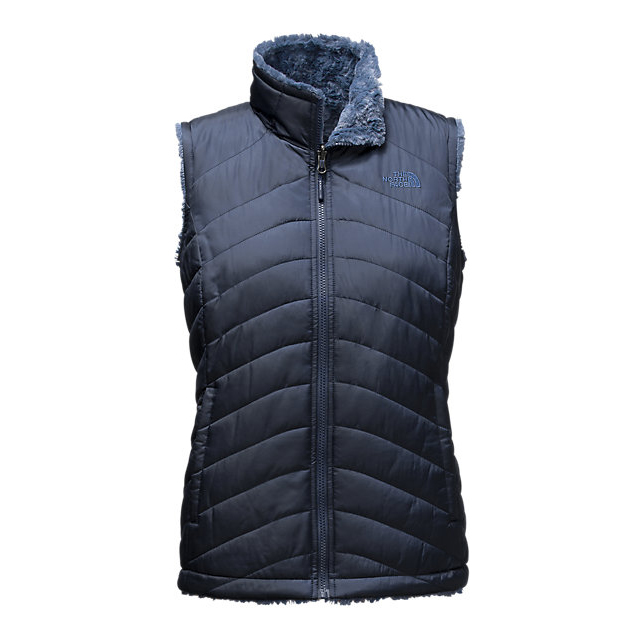 CHEAP NORTH FACE WOMEN'S MOSSBUD SWIRL REVERSIBLE VEST COSMIC BLUE/SHADY BLUE ONLINE