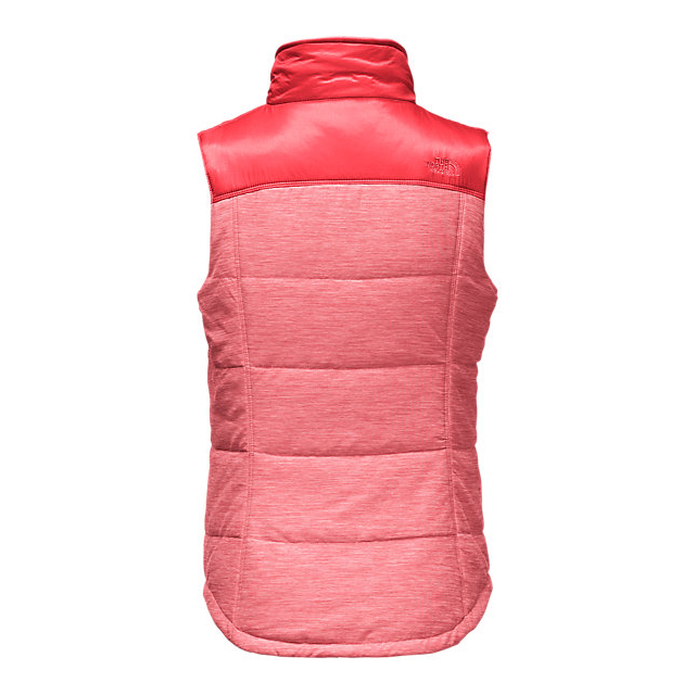 CHEAP NORTH FACE WOMEN\'S PSEUDIO VEST MELON RED HEATHER/MELON RED ONLINE